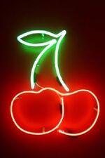 "New Two Cherries Bar Pub Logo Acrylic Neon Light Sign 20"""
