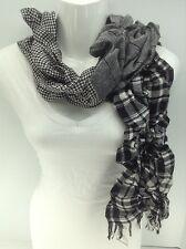 Women's RALPH LAUREN Black 3 Pattern 70% WOOL Blend Scarf - $55 MSRP - 10%