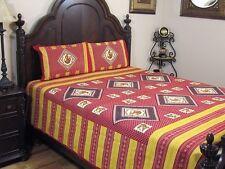 Beautiful Folk Dance Bedding Cotton Printed Indian 3P Sheet Pillowcases ~ Full