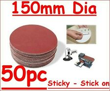 """150mm 6"""" Self Adhesive Sticky Discs 400 G 50pc Free Post"""