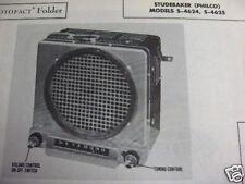 1947, 1948 STUDEBAKER S-4624 & S-4625 RADIO PHOTOFACT