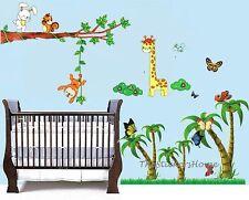*Combo* Monkey Giraffe Butterfly Tree Wall Stickers Decor Nursery Kids Baby Room