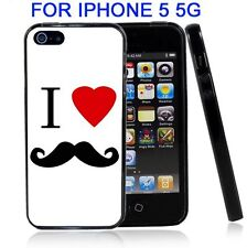 I Heart Love Mustache for Iphone5 5G Case Cover