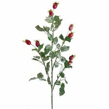 Artificial Frosted Rose Hip Spray / Plant - 72cm - Winter Christmas Decoration