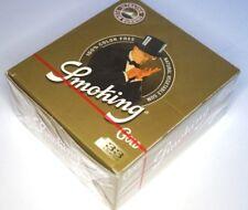 1 Box SMOKING GOLD 50 Heftchen mit je 33 Papers / Blättchen Zigarettenpapier SMK