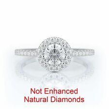 1.25 Carat Blue Diamond Half Eternity Beautiful Engagement Ring 14k White Gold Clear-Cut Texture Engagement & Wedding