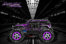 "TRAXXAS SUMMIT GRAPHICS WRAP DECALS ""HELL RIDE"" FOR OEM BODY PARTS PURPLE FLAME"