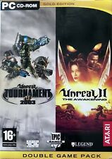 Unreal Tournament 2003 & Unreal II The Awakening Twin Set For PC CD-Rom