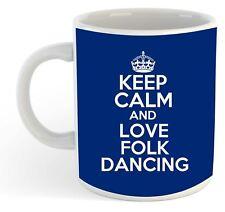 KEEP CALM E LOVE FOLCLORISTICO DANZA Mug - Blu