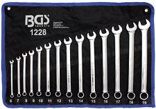Jeu de 14 clés plates mixtes fourche œil de 6 à 19 mm extra longues XL