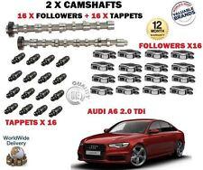 Para Audi A6 2.0Tdi 2008- > Nuevo 2X Levas Cam Set & 16x Seguidores+16X Taqués