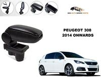 ARMREST CENTRE CONSOLE SPEACIALLY FOR PEUGEOT 308 2007-2013 BLACK LEATHERETTE