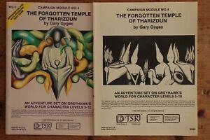 The Forgotten Temple of Tharizdun Module AD&D 1st Edition TSR 9065 WG4 1982