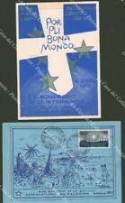 ESPERANTO. Palermo, Rocca di Papa. 2 cartoline 1957 e 1962.