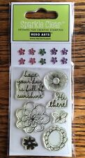 """Hero Arts Sparkle Clear """"Full Of Suns"""" Stamp Set *New*"""