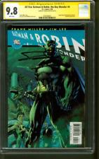 All Star Batman & Robin 4 CGC SS 9.8 Frank Miller Top 1 Signed Jim Lee art