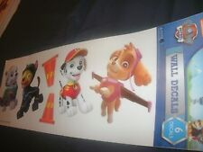 """6 Nickelodeon Paw Patrol Die Cut Wall Decal Stickers 15"""" Sheet - Removable (B86)"""