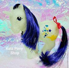 HQG1C Custom Vintage G1 MLP Style Glitter Unicorn 🌟 GENIE 🌟 w Charm & Ribbon!