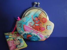 SUPER RARE 2008 HIGH-END BRAND NAME DUMPLING DYNASTY DOLL PRINTS COIN BAG, PURSE