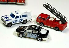 Majorette 3 LOT Emergency Truck Ambulance Ford Mondeo Police Fire Engine lrcb11