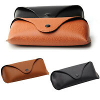 Protable Unisex Leather Eye Glasses Sunglasses Protector Holder Box Case Cover