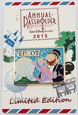 2015 Disney Annual Passholder Pin EPCOT Figment Dreamfinder Postcard LE 2500