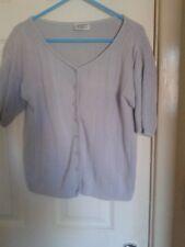 Vintage Para pale lilac short sleeve button down jumper top size M
