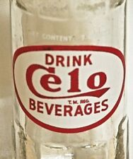 Celo Beverages; 7oz. ACL soda pop bottle; Riverside Bot. Co.; Sauk City, Wis.