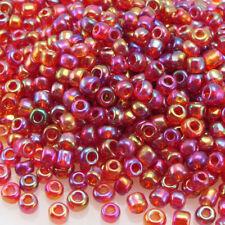 Rocailles Glasperlen 3mm himbeere rot Lüster 750 St.Perlen Rocaillesperlen -181