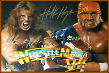 4x6 SIGNED AUTOGRAPH PHOTO REPRINT of Ultimate Warrior & Hulk Hogan