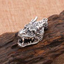 Sterling Silver Pendant Jewelry Buddha Protection Animal Heaven Dragon On Sale