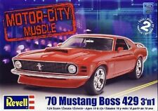 Revell 1:24 1970 Ford Mustang Boss 429 3n1  Skill 2 Plastic Model Kit