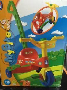 Triciclo a pedali con maniglia giocattolo Androni 6420 Gioco bambini 15 mesi