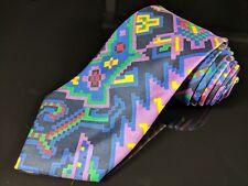 "New TURNBULL & ASSER Geometric Hand Made 100% Silk Mens Luxury Tie - 3.5"""