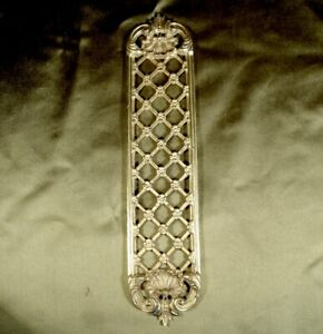 VINTAGE GOLD GILT BRONZE ORMOLU DOOR FINGER PLATE / PUSH #1 classical design.