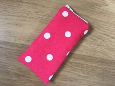 Handmade Glasses Sunglasses Zipped Case Pouch - Cath Kidston Red Spot Fabric