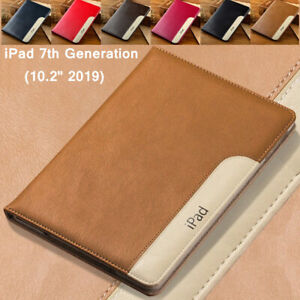 """For iPad 10.2"""" 7th 8th Generation Magnetic Smart Leather Wallet Stand Case Cover"""