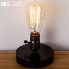 Vintage Retro Industrial Wooden Table Light  Bedroom Bar Cafe Desk Accent Lamp