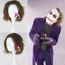 Movie The Dark Knight Joker Men's Short Anime Cosplay Wig Halloween Hair Wig NEW