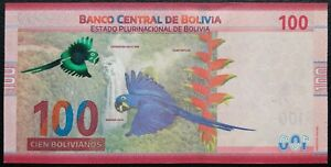 100 bolivanos Bolivia 2018 pick 251 UNC