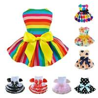 Summer Pet Clothes Cute Dog Cat Princess Dress Bow Skirt Puppy Costume Apparel