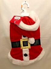 "CHRISTMAS PETHOLIDAY DOG Red SANTA Suit 12"" Size MEDIUM LEASH Opening NEW TAGS"