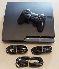 Playstation 3 Konsole 320 GB schwarz + orig. Controller + Kabel + Spiel