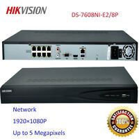 HIKVISION NVR DS-7608NI-E2/8P 8CH POE Embedded Plug & Play 3-Years Warranty