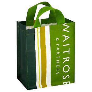 Waitrose & Partners|6 Bottles Wine Spirit Carrier Stripe Bag|Reusable|Free P&P