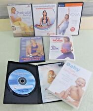 Lot of 4 PostNatal Workout DVDs + BONUS Baby Sign Language PRENATAL Yoga DVD