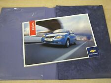 CHEVROLET KALOS HANDBOOK OWNERS MANUAL WALLET 2005-2007