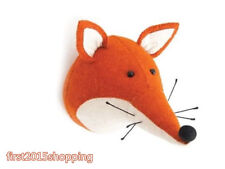 Wall Mount Stuffed Soft Animal Fox Faux Wildlife Head Bedroom Decoration gift