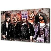 GUNS N ROSES AXL SLASH CANVAS PICTURE PRINT MODERN WALL ART FREE FAST DELIVERY