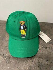 Polo Ralph Lauren Men's Embroidered Polo Bear Chino Ball Cap Hat Green Blue